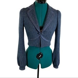 Rebecca Taylor Wool Blend fitted cropped Jacket